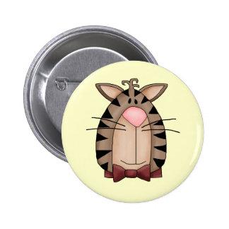 Cute Kitten Face Pinback Buttons