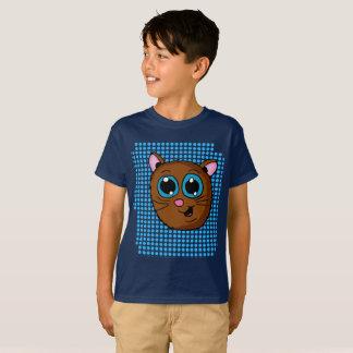 Cute Kitten Head Graphic design Shirt