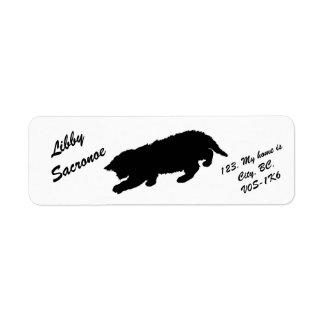 Cute Kitten Silhouette Return Address Label