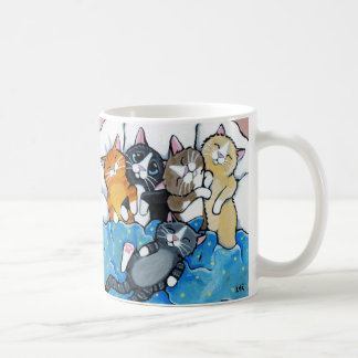 Cute Kitten Sleepover Illustration Coffee Mug