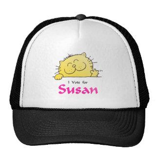 Cute Kitten Vote For Susan Hats