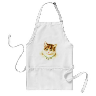 Cute kitten with bells on necklace - for cat lover aprons