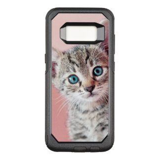 Cute kitten with blue eyes. OtterBox commuter samsung galaxy s8 case