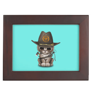 Cute Kitten Zombie Hunter Keepsake Box