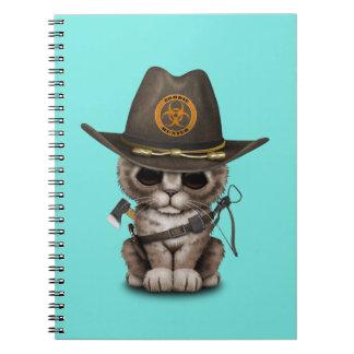 Cute Kitten Zombie Hunter Notebooks