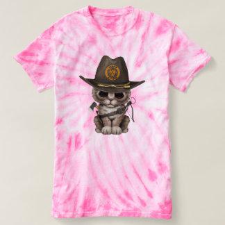 Cute Kitten Zombie Hunter T-Shirt