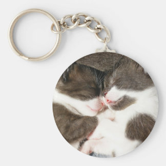 Cute kittens best friends customisable keychain