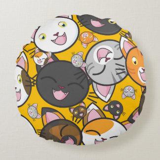 Cute Kitties Round Cushion