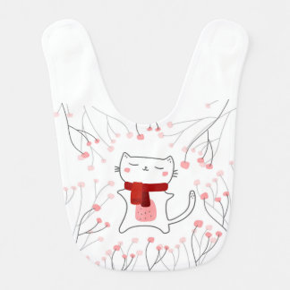Cute kitty bib