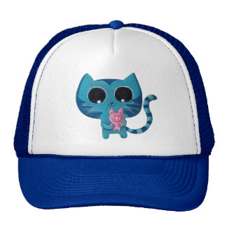 Cute Kitty Cat and Pig Hats