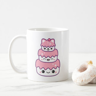 Cute Kitty Cat Cake Coffee Mug