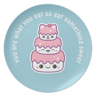 Cute Kitty Cat Cake Plate