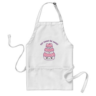 Cute Kitty Cat Cake Standard Apron