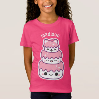 Cute Kitty Cat Cake T-Shirt