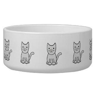 Cute Kitty Cat Ceramic Pet Bowl