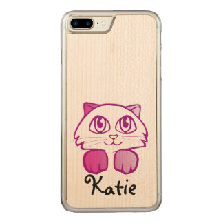 Cute Kitty Cat Customizable name iPhone 7 Case