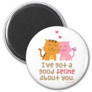 Cute Kitty Cat Feline Love Confession Pun Humor Magnet