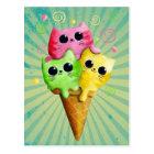 Cute Kitty Cat Ice Cream Postcard