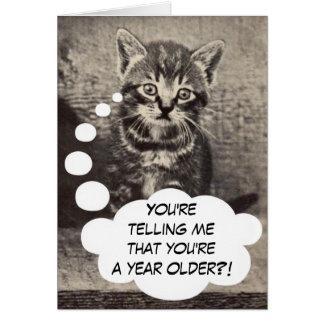 Cute Kitty Cat Kitten Happy Birthday Pussycat Greeting Card