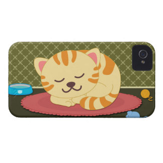 Cute kitty cat sleeping fun blackberry bold case