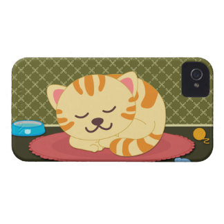Cute kitty cat sleeping fun iphone 4 casemate iPhone 4 cover
