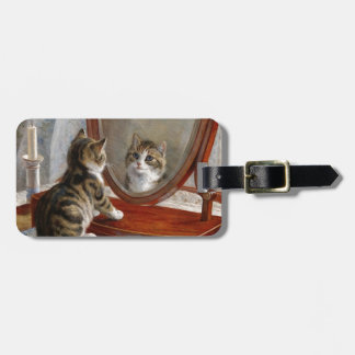 Cute Kitty Cat Vintage Art by Frank Paton Luggage Tag