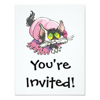 cute kitty cat wrapped in blanket card