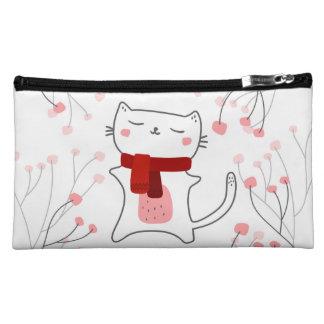 Cute kitty cosmetic bag