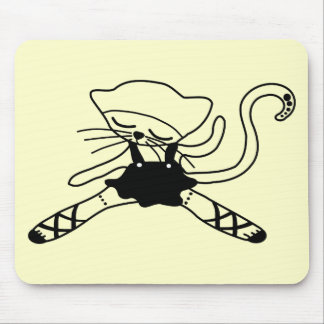 cute kitty dancer doll mouse pad