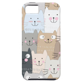 Cute kitty kitten cat blue grey pattern tough iPhone 5 case
