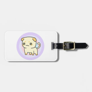 Cute Kitty Luggage Tag w/ leather strap