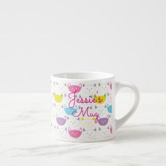 Cute Kitty Print Little Girl Mug