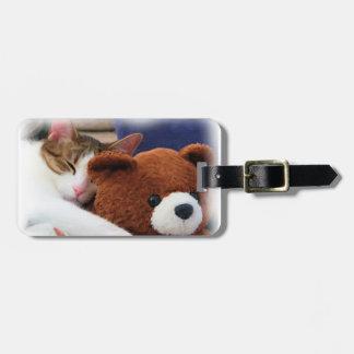 Cute Kitty Teddy Bear Bag Tag