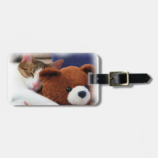 Cute Kitty Teddy Bear Luggage Tag