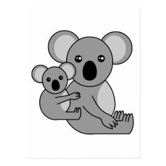 Cute Koala Bear and Baby Postcard