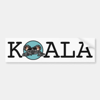 CUTE KOALA BEAR BUMPER STICKER