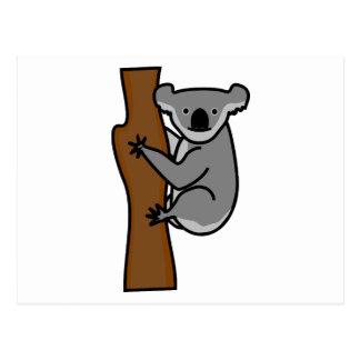 Cute koala bear in a tree postcard