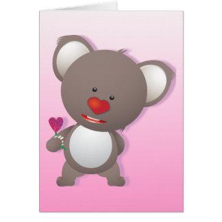 Cute Koala Bear Valentine Greeting Card