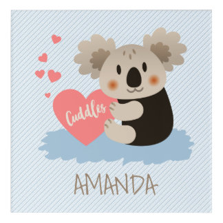 Cute Koala Cuddles ID386 Acrylic Wall Art