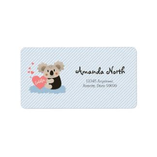 Cute Koala Cuddles ID386 Address Label