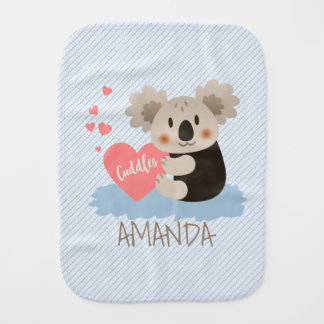 Cute Koala Cuddles ID386 Burp Cloth