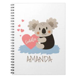 Cute Koala Cuddles ID386 Notebook