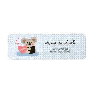 Cute Koala Cuddles ID386 Return Address Label