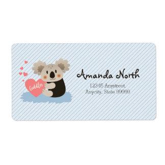 Cute Koala Cuddles ID386 Shipping Label