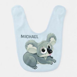Cute Koala custom name baby bib