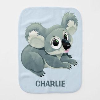 Cute Koala custom name burp cloth
