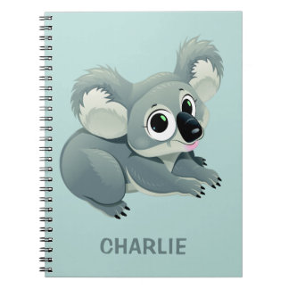 Cute Koala custom name notebook