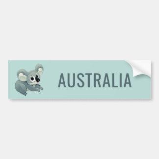 Cute Koala custom text bumpersticker Bumper Sticker