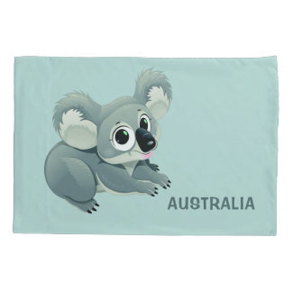 Cute Koala custom text pillowcases