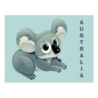 Cute Koala custom text postcard